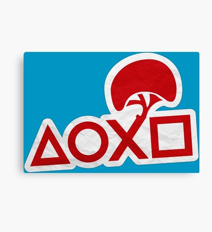 PlayStation Button Icons LBP Style Canvas Print