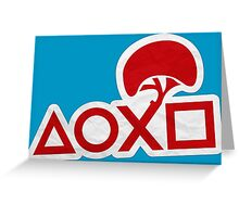 PlayStation Button Icons LBP Style Greeting Card