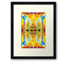 Tony's Tower Abstract Pattern Artwork Framed Print