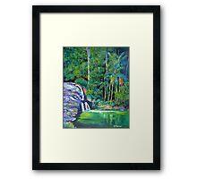 Currumbin Slide , Waterfalls Currumbin Valley Framed Print