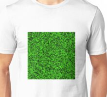 Green Pixel Square Art Unisex T-Shirt