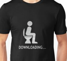 Toilet download Unisex T-Shirt