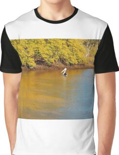 Pelican Relaxing on a Sunday Afternoon Graphic T-Shirt