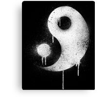 Graffiti Zen Master - Spray paint yin yang Canvas Print