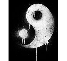 Graffiti Zen Master - Spray paint yin yang Photographic Print