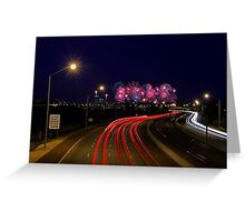 Australia Day Skyworks - Perth Western Australia  Greeting Card