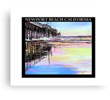 Newport Beach Pier at sunset- Southern California Canvas Print