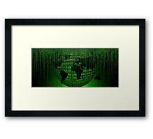 Matrix Inspired World Map Framed Print