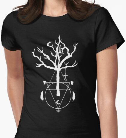 A Witch Tree Womens Fitted T-Shirt