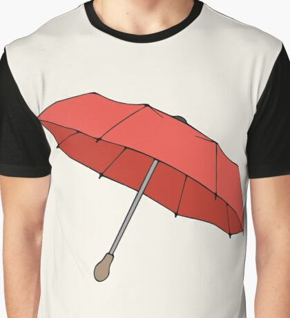 Red umbrella with wooden handle Graphic T-Shirt