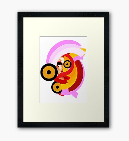 Welcome the Glitch Queen Framed Print