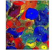 ABSTRACT FLOWERS; Colorful Whimsical Print Photographic Print