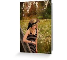Summer Reverie ~ Alone in a Meadow Greeting Card