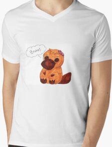 Zombie Platty Mens V-Neck T-Shirt