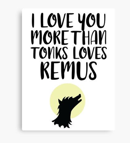 More Than Tonks Loves Remus Canvas Print