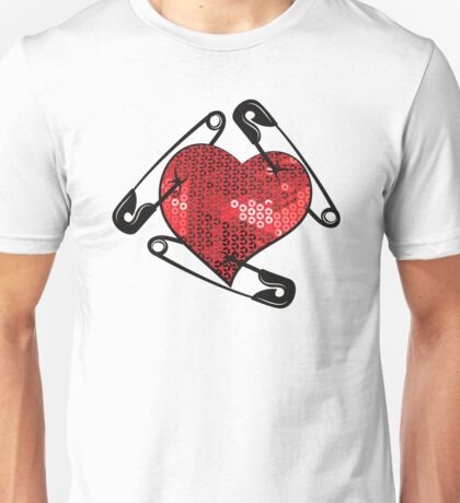 red sequins safety pin  Unisex T-Shirt