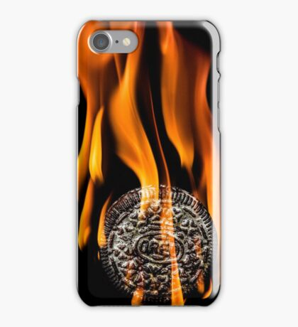 Flaming Oreo iPhone Case/Skin