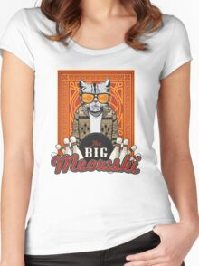The Big Meowski Women's Fitted Scoop T-Shirt