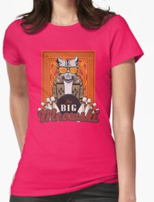 The Big Meowski Womens Fitted T-Shirt