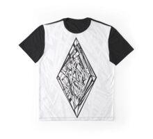 Zen Doodle Diamond Black Ink Graphic T-Shirt