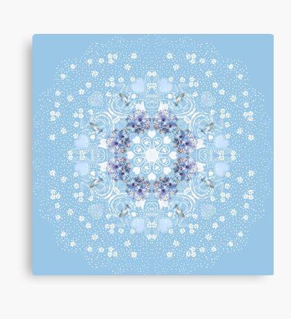 Pretty Blue Gerberas Canvas Print