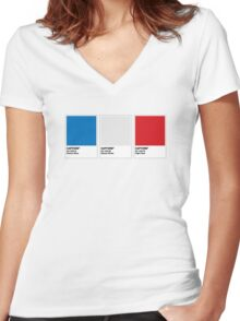The Colorists - CAPTONE Women's Fitted V-Neck T-Shirt