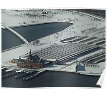 Aerial View, Snow View, Central Railroad of New Jersey Terminal, Liberty State Park, New Jersey Poster