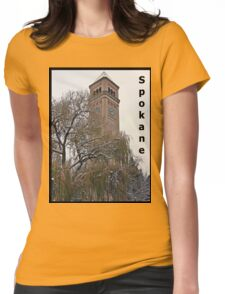Snowy Willow Tower Womens Fitted T-Shirt