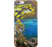 Australian  Corroboree Frog from a Pastel Painting by Heather Holland iPhone Case/Skin