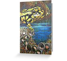 Australian  Corroboree Frog from a Pastel Painting  Greeting Card