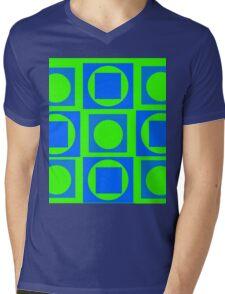 Green-Blue Mix Mens V-Neck T-Shirt