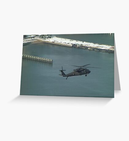 Aerial View, Snow View, Helicopter, Hudson River Greeting Card