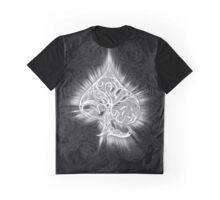 Zen Doodle Spade Black White Glow Graphic T-Shirt