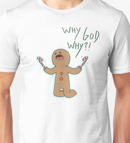 Candy Cane Hands Man Unisex T-Shirt