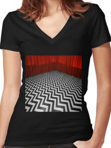 THE BLACK LODGE Women's Fitted V-Neck T-Shirt
