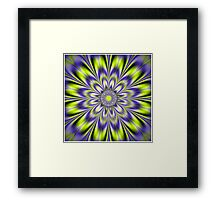 ILLUSIONARY FLOWER; Abstract Print Framed Print
