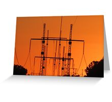 October 30 Power Post Sunset Greeting Card