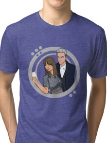 The Doctor and Clara - Selfie Tri-blend T-Shirt