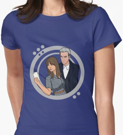 The Doctor and Clara - Selfie Womens Fitted T-Shirt