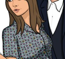 The Doctor and Clara - Selfie Sticker