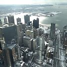 Aerial View, Snow View, Governors Island, Lower Manhattan, New York City by lenspiro