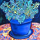 Blue Succulent by marlene veronique holdsworth