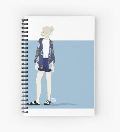 Dark Kimono Spiral Notebook
