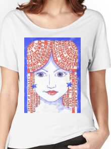 Women's March on Washington Red, White and Blue Women's Relaxed Fit T-Shirt