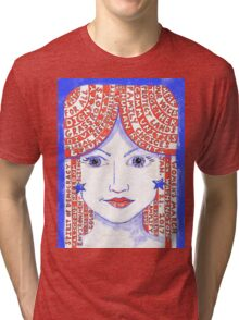 Women's March on Washington Red, White and Blue Tri-blend T-Shirt