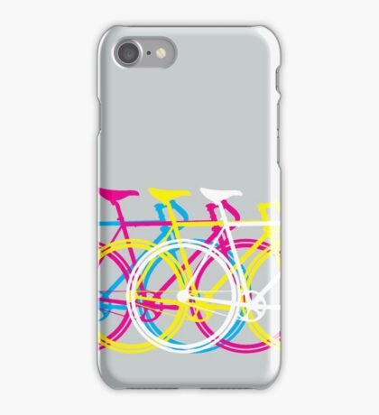 Four Bicycles Bikes CMYK iPhone Case/Skin