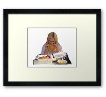 leslie knope waffles Framed Print