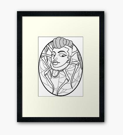 Widow medal Framed Print