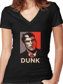 Darius DUNK Women's Fitted V-Neck T-Shirt