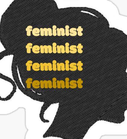 feminist silhouette Sticker